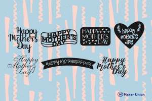 Mother's day dxf files preview