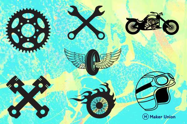 Motorcycle madness dxf files preview