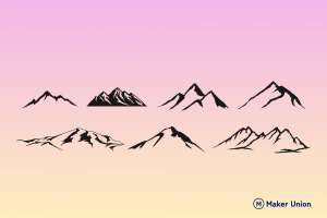 Mountains dxf files preview