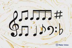 Musical notes dxf files preview