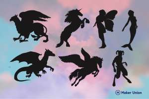 Mythical creatures dxf files preview
