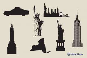 New york scenery dxf files preview