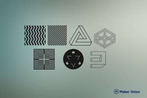 Optical illusions dxf files preview