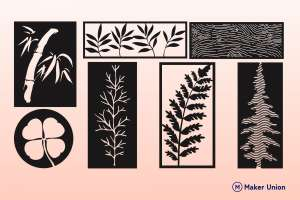 Organic wall decor dxf files preview