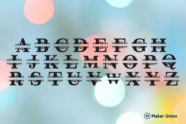 Ornamental monograms dxf files preview