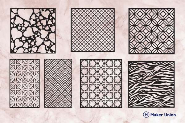 Ornamental patterns 2 dxf files preview