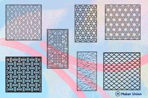 Ornamental patterns dxf files preview