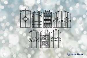 Ornate gates dxf files preview