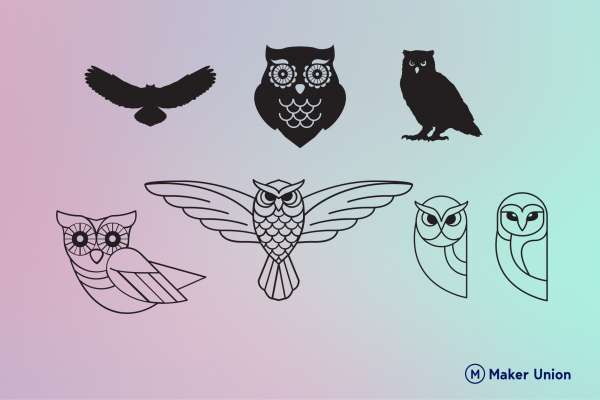 Owls dxf files preview