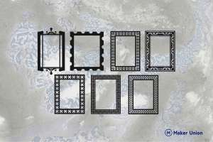 Photo frames dxf files preview