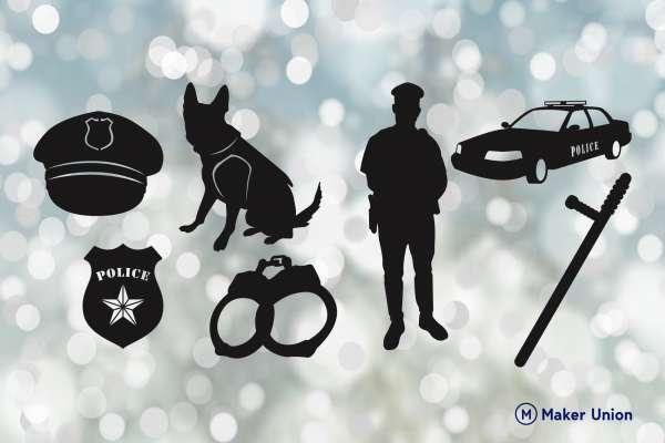 Police service dxf files preview