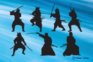 Samurai dxf files preview