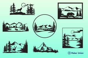 Scenic views dxf files preview