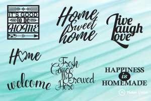 Signs for the home dxf files preview