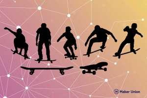Skateboarding dxf files preview