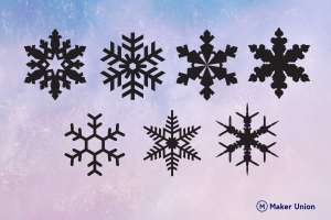 Snowflakes dxf files preview