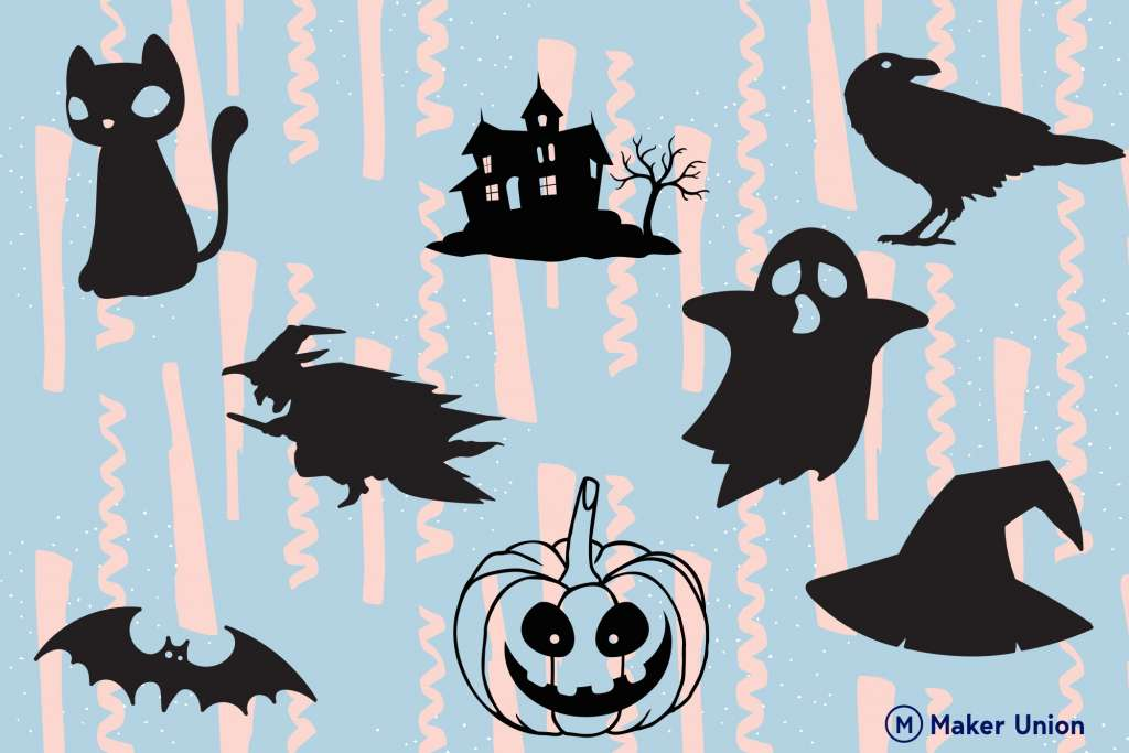 Spooky halloween dxf files preview