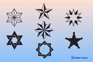 Stars dxf files preview