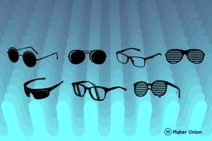 Sunglasses free DXF files preview