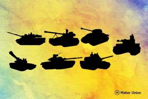 Tanks free dxf files preview