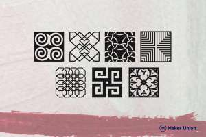Tile panels dxf files preview