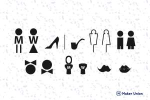 Toilet signs dxf files preview