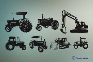Tractors dxf files preview
