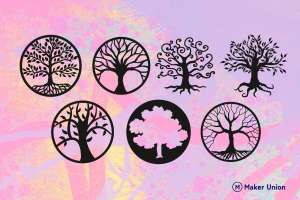 Trees of life dxf files preview