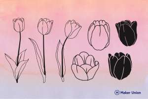 Tulips dxf files preview