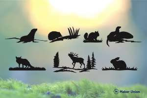 Uk wildlife dxf files preview