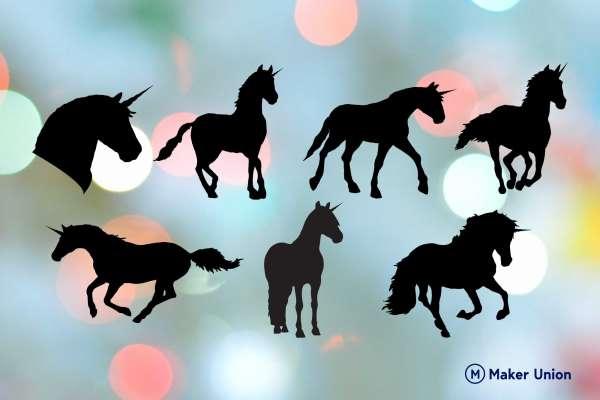 Unicorns free dxf files