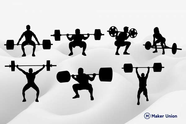 Weightlifting free dxf files preview