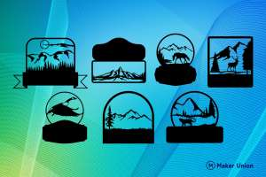 Wildlife signs free dxf files preview
