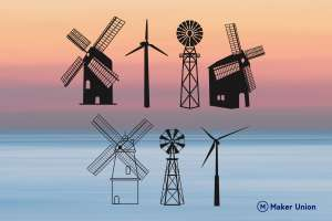 Windmills dxf files preview