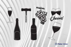Wine dxf files preview